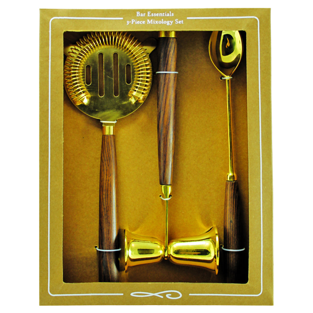 Be Home 3-Piece Mixology Set in Gold