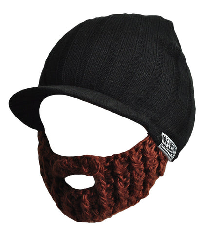 Beard Rider Hat - Black & Brown Beard
