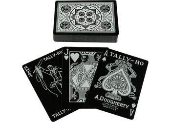 Ultra-Premium Black and Silver Playing Cards