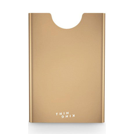 Thin King Aluminum Card Case - Champagne