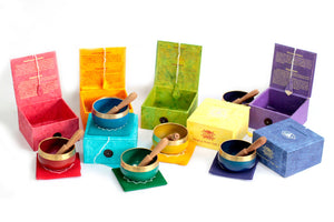 7 Piece Chakra Singing Bowl Set