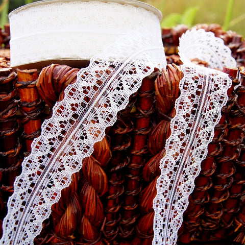 Pure White Symetrical Galloon Lace Trim