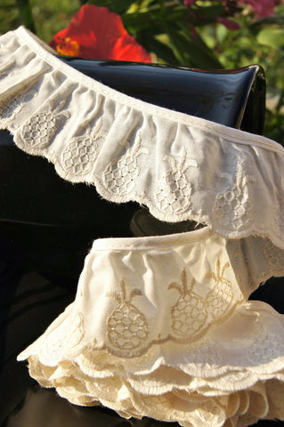 Pineapple Ruffled Embroidery Lace Edging