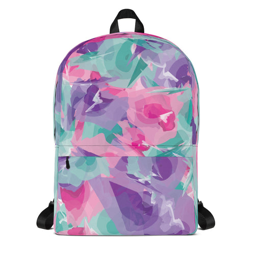 Watercolor Backpack - Purple, Pink, Teal
