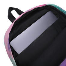 Load image into Gallery viewer, Watercolor Backpack - Purple, Pink, Teal