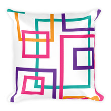 Load image into Gallery viewer, Colorful Squares and Rectangles - Throw Pillow