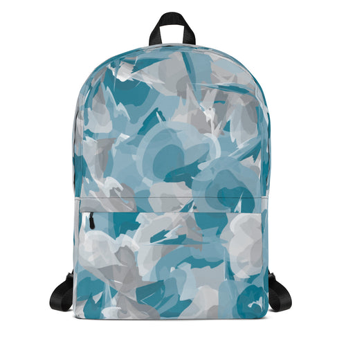 Watercolor Backpack - Blue & Gray