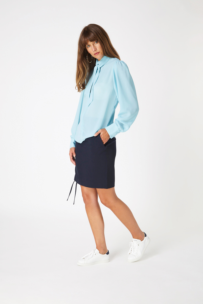 Kensington Blouse - Sky Blue