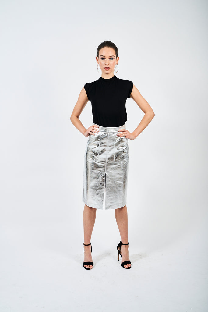 The Leather Midi - Silver