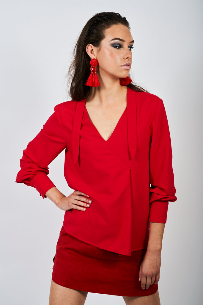 The Berwick Blouse - Scarlet Red