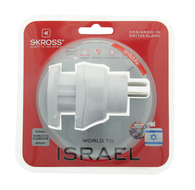 SKROSS Combo World Adapter to Israel