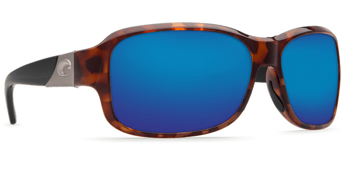 Costa Inlet Retro Tortoise with Black Temples Blue Mirror Lenses