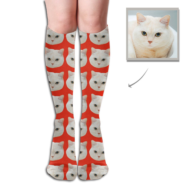 Custom High Tube Socks Pet Cat - Lotjog