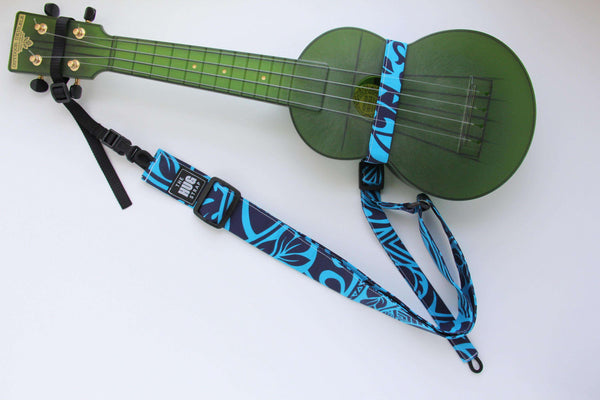 All in One Hug Strap for Ukulele Abstract African Print