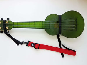 "Hug Strap for Ukulele Red 1"" wide"