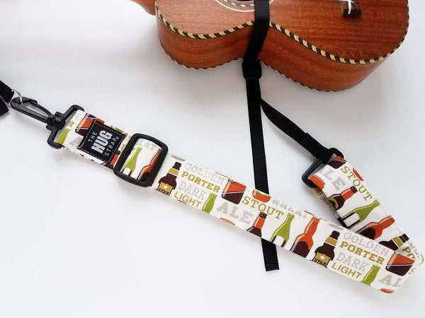 Hug Strap Ukulele Strap No Button Beer Print