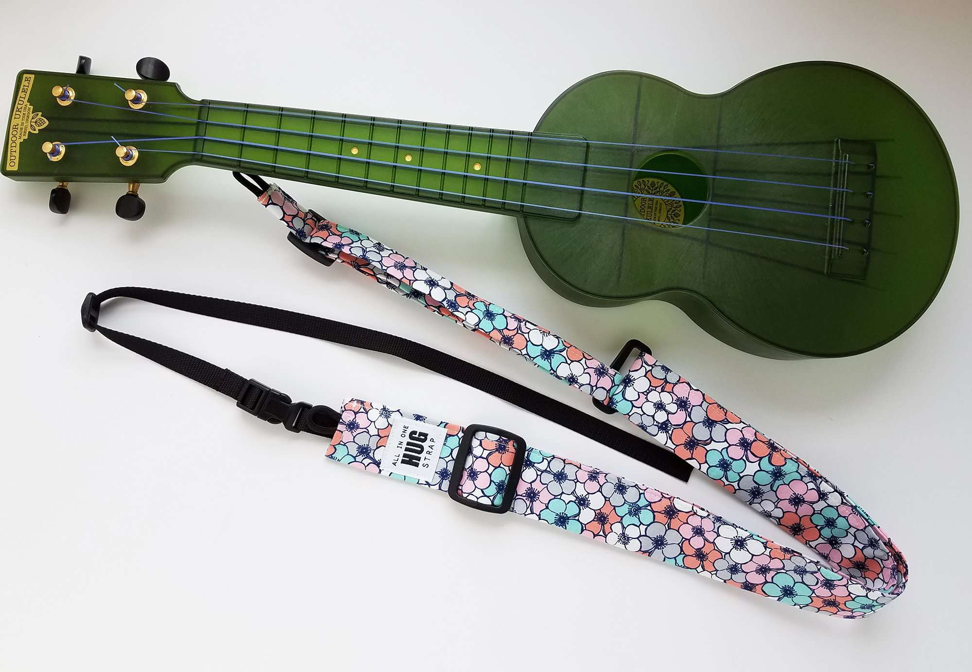 All in One Hug Strap Pink Blue, White and Gray Flowers