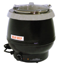 Omcan SB6000B (19072) Black Soup Kettle with Plastic Lid, 10 L Capacity, 400 W