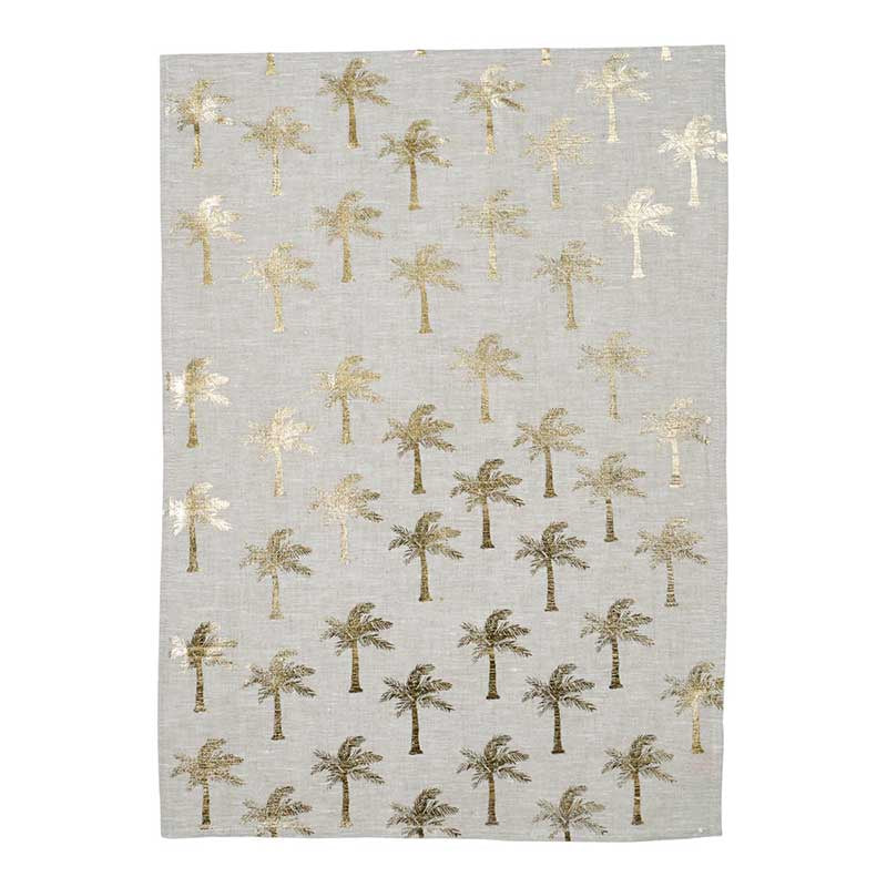 Tea Towel Tiny Palms Gold
