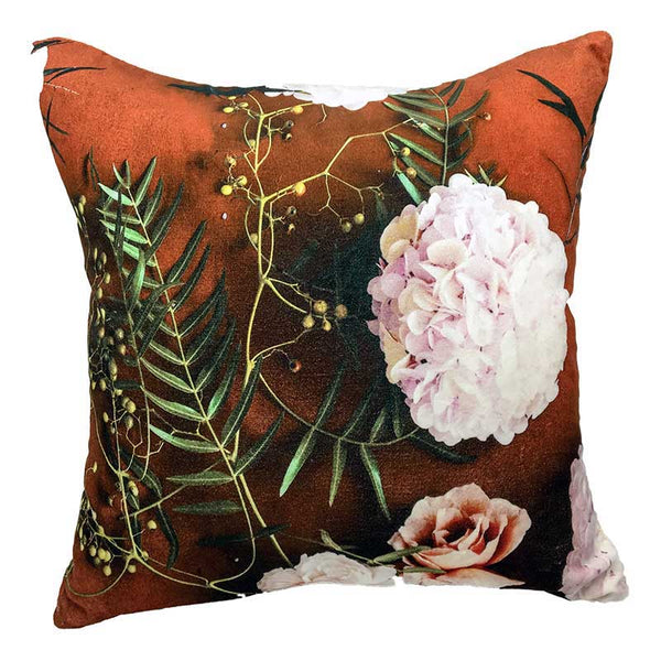 Autumn Rose Velvet Cushion 50cm