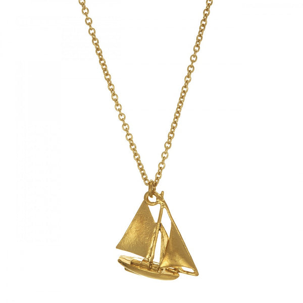 Necklace Boat Gold Plate Alex