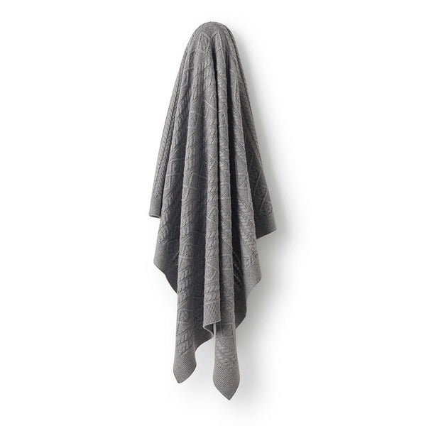 Blanket Cable Knit Grey Luxe