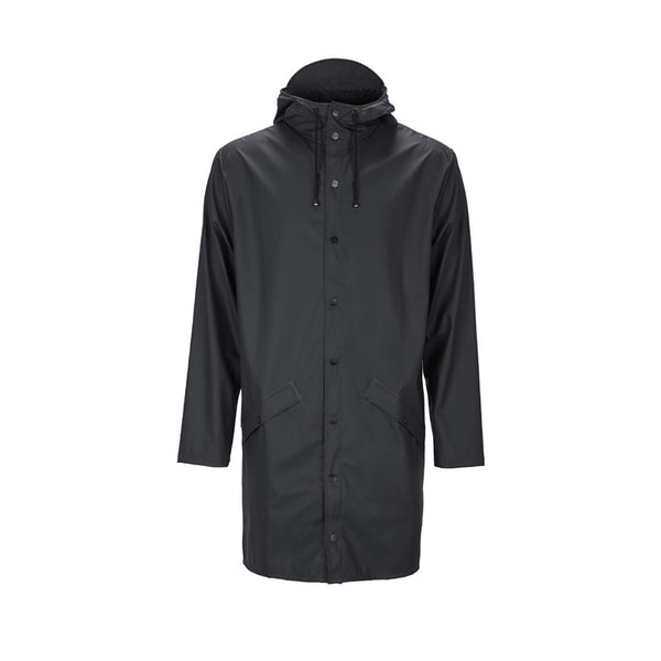 Raincoat Long Jacket Black