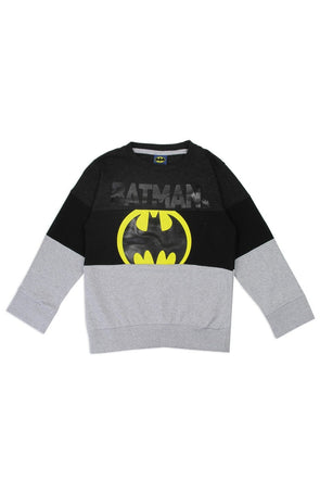 Boys batman 4-7 color block sweatshirt