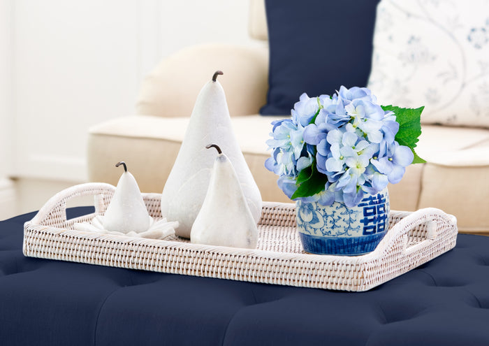Hamptons decorating ideas with Rattan Trays