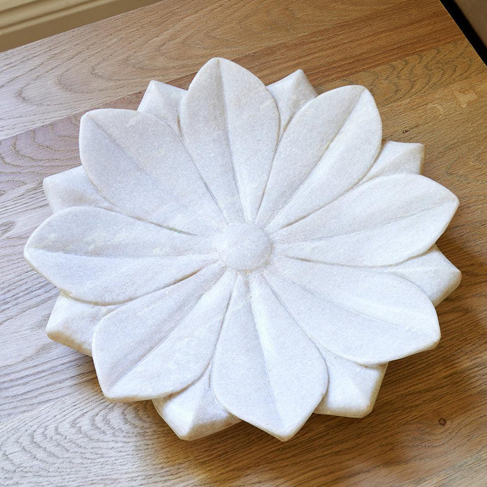 Marble Lotus Plate - 3 Sizes