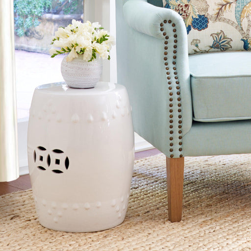 Ceramic Stool - White