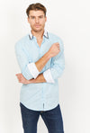 Leonardo Light Blue Organic Button Up