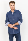 Christian Navy Organic Button Up