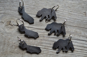 CALIFORNIA BEAR bottle opener key chain