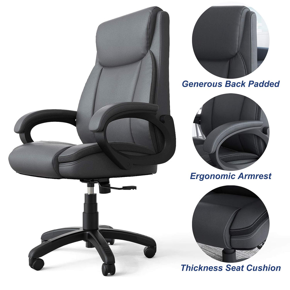 Phenomenal Mysuntown Executive Office Chair Bonded Pu Leather Swivel Chair For Big And Tall Users Ergonomic High Back With Lumbar Support Evergreenethics Interior Chair Design Evergreenethicsorg