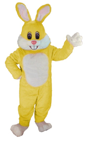 T0243 Yellow Toon Rabbit Mascot Costume (Thermolite)