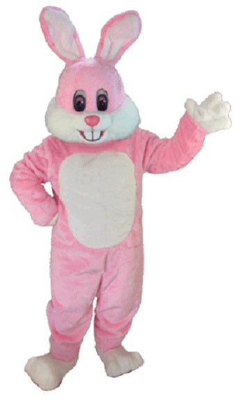 T0245 Pink Toon Rabbit Mascot Costume (Thermolite)
