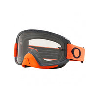 OAKLEY O FRAME 2.0 MX GOGGLE (GUNMETAL ORANGE) CLEAR & DARK GREY LENS
