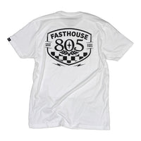 FASTHOUSE 805 PITSTOP ADULT TEE WHITE