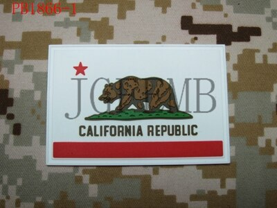 USA California flag Tactical military morale 3D PVC patch