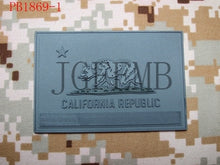 Load image into Gallery viewer, USA California flag Tactical military morale 3D PVC patch
