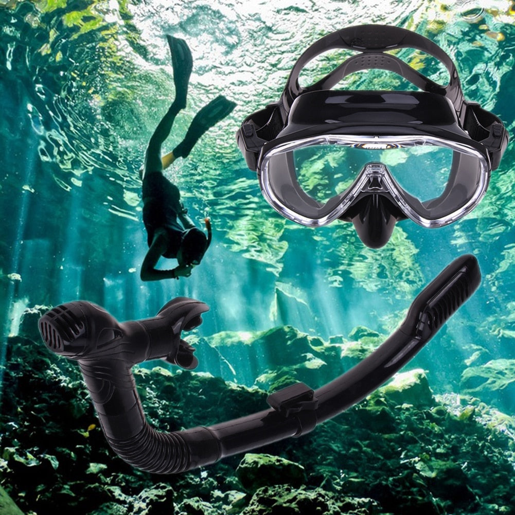 Snorkeling Diving Mask Glasses Set Silicone Gel Gear Equipment Anti-Fog Diving Goggles Swimming Breathing Tube Swim Spearfish