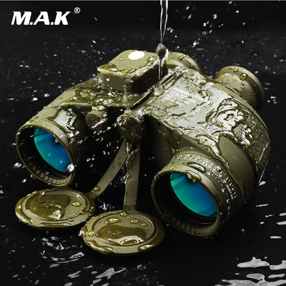 Binocular Military 10x50 Professional Marine Binoculars Waterproof Digital Compass Telescope High Power lll Night Vision