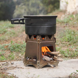 Portable Outdoor Stove Compact Folding Wood Stove Portable Outdoor Camping Stove Cooking Picnic Hiking