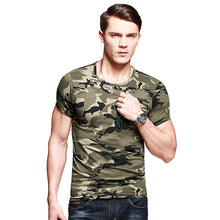 Load image into Gallery viewer, Military Tactical Army T shirt Cotton Camouflage Tee shirt Men Outdoor Sport T-shirt Camping Hiking Short Sleeve Tee Shirts