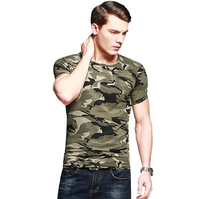 Military Tactical Army T shirt Cotton Camouflage Tee shirt Men Outdoor Sport T-shirt Camping Hiking Short Sleeve Tee Shirts