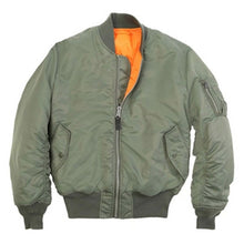 Load image into Gallery viewer, Mens U.S Army Military Classic Bomber Flight Jacket Pilot jacket Air Force Tactical Jacket Orange Lining For Rescue Purpose