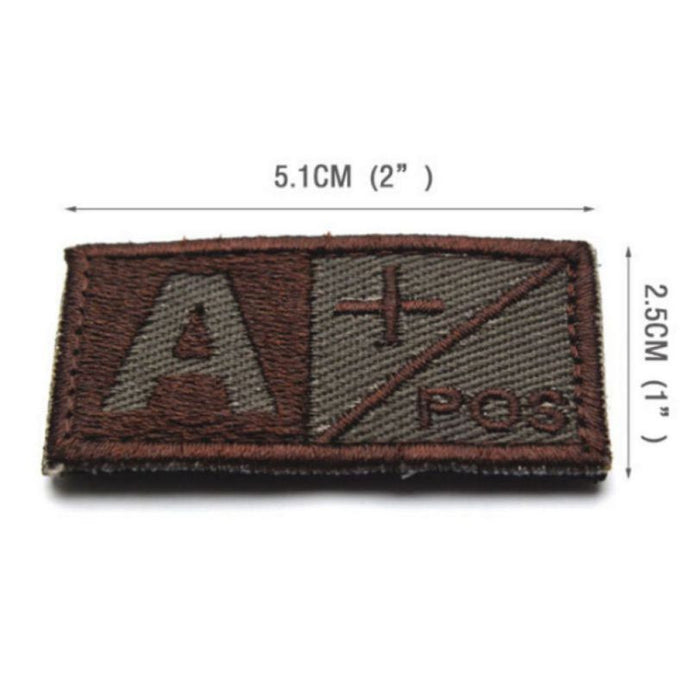 Brand New Blood Type Embroidered Patch Military Tactics Armband Badge Arm  Warmer Set