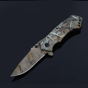 PDR Outdoor Army Hunting Folding Knife Blade Straight Knives Camping & Hiking 54HRC Hardness  Multi Tool
