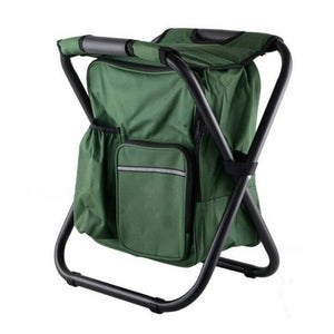 Multi-functional Folding Camping Chair Stool Backpack With Cooler Insulated Picnic Bag Hiking Seat Table Bag Beach Chair